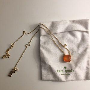 Kate Spade Orange Gemstone Necklace